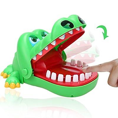 Arshiner Jeu d'action Crocodile dentiste mord doigts Vert