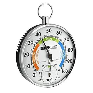 TFA 45.2027 – Termohigrómetro metálico de Cabello sintético