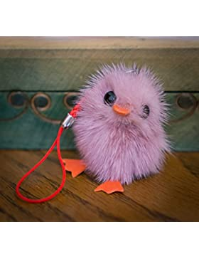 Buy 2Get 1Free. Pequeño Fur Cute Chick–Baby Bird Fluffy pato llavero pompón, encanto, pelo de animal, regalo...