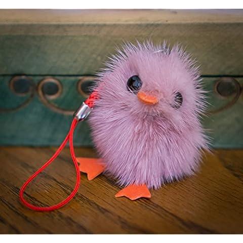 Buy 2Get 1Free. Pequeño Fur Cute Chick–Baby Bird Fluffy pato llavero pompón, encanto, pelo de animal, regalo único, diseño de, cadena, Fox, hurón Vogue Fashion colgante ropa novedad llavero y uso especial novedad accesorios