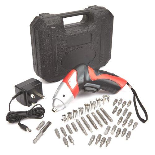 Trueshopping - Cacciavite elettrico, 4,8V, senza fili, compatto e leggero, con custodia e caricatore inclusi