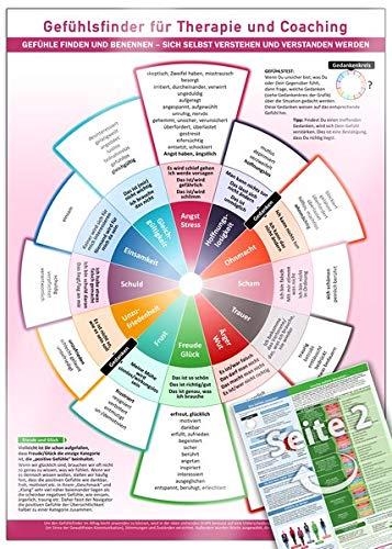 Gefühlsfinder für Therapie und Coaching (2019): Gefühle finden und benennen - sich selbst verstehen und verstanden werden - Mit über 100 Gefühlsbegriffen (DIN-A4, laminiert)