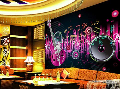 SUNNYBZ Mural 3D Ktv Theme B1 Fire Mural Bar Fondo Papel De Pared Karaoke Bar Net Tooling 3D Flash...