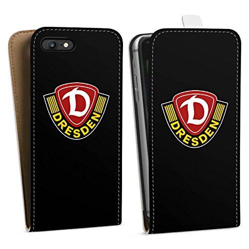 Apple iPhone X Silikon Hülle Case Schutzhülle Dynamo Dresden Fanartikel Bundesliga Downflip Tasche weiß