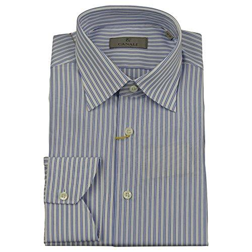canali-mens-shirt-multi-white-blue-stripe-cotton-bnwt-uk-43-17-made-italy