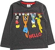 Disney Camiseta de manga larga para niños con diseño de Mickey Mouse