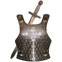 Medievale Spada d' oro e l' armatura petto Set effetto metallo