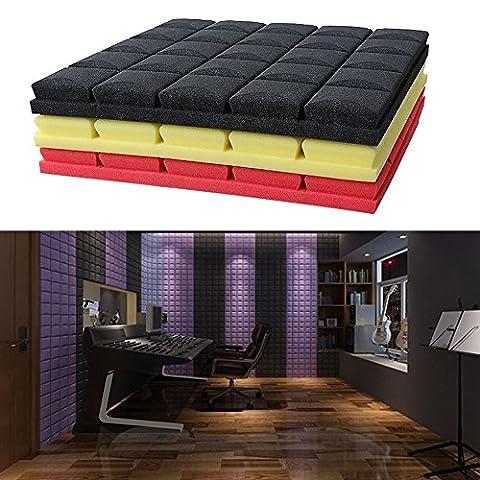 Dairyshop Hemisphere Grid Type Sound Absorption Soundproof High-density Acoustic Foam Medium-density Soundproof Sound Absorption Foam Panel Tile Treatment 19.7'' x 19.7'' x 1.97