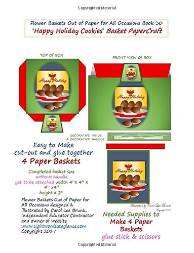 f Paper for All Occasions Book 30: Happy Holiday Cookies Basket PaperCraft Gift Box ()