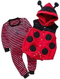Kidsform Unisex Pelele para Dormir Rompers Bebe Bodysuits 0-24 Mes 2PCS Algodón Mameluco