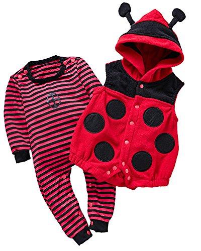 Kidsform Unisex Baby Langarm Bodysuit Overalls Jumpsuit Playsuits -