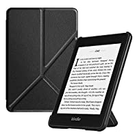 Fintie Origami Case for All-New Kindle Paperwhite (10th Generation, 2018 Release) - Slim Fit Stand Cover Support Hands Free Reading with Auto Sleep/Wake for Amazon Kindle Paperwhite E-Reader, Black
