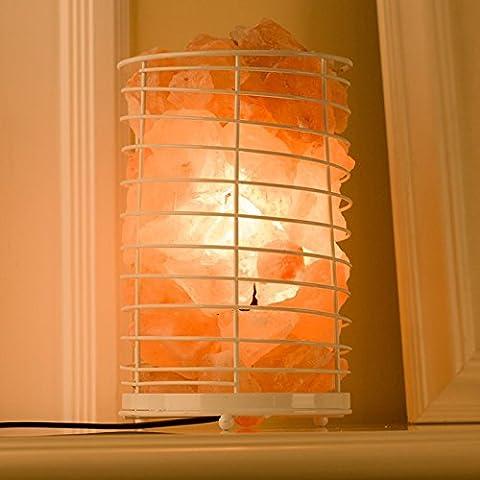 BBC Bügeleisen Himalaya Salz und Licht kreative Wohnzimmer dekorative Tischleuchte warme und romantische Nacht Licht Schlafzimmer Nachttischlampe, Weiß, Dimmen (Retro Backgammon)