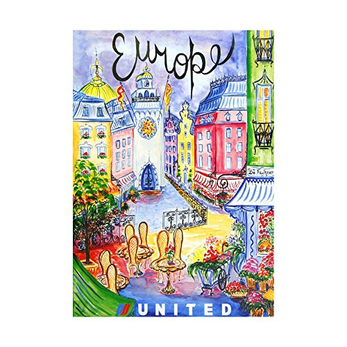 TRAVEL United Airline Europe Vintage Framed Art Print Picture & Mount F12X1527 - Poster United Airlines