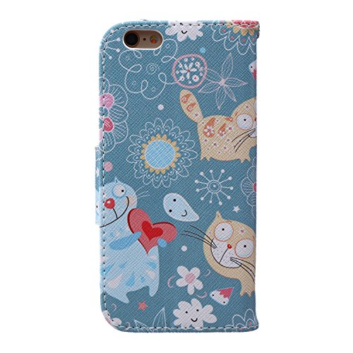 iPhone 6S Coque Cuir Fleur,iPhone 6 Coque Pour Fille,iPhone 6S Case Leather,Wallet Coque Cuir Etui Housse Cover pour iPhone 6S 6,EMAXELERS coloré Papillon Motif Protecteur Flip PU Etui Housse Cuir Étu C Butterfly Feather 11