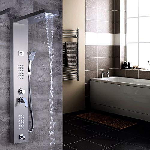 Shower Faucets Senior Hotel Thermostatic Shower Column Wall Mounted Rain Waterfall Shower Panel Mixers Rotate Body Massage Jets Shower System Back To Search Resultshome Improvement