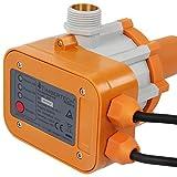 Timbertech - Control automático de bomba de agua con monitor (incluye cable práctico), color naranja-blanco - Voltaje: aprox. 220-240 V