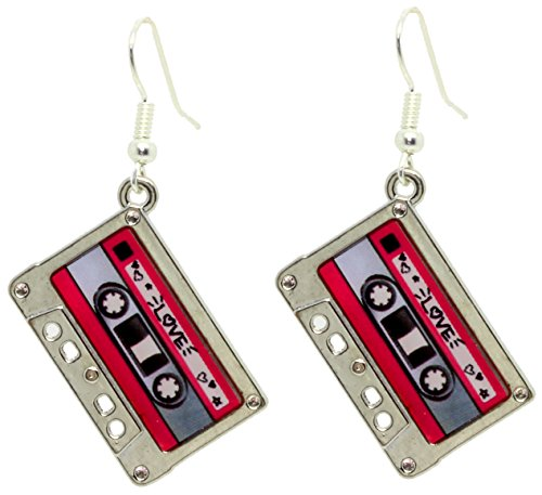Bluebubble HEY DJ Tape Dangle Earrings With FREE Gift Box