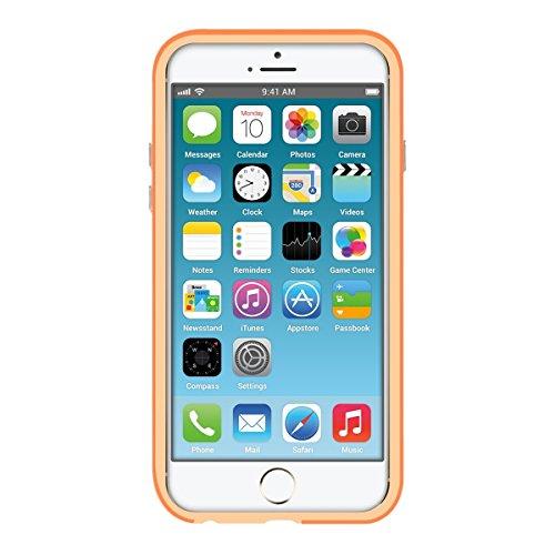 kwmobile TPU Silikon Bumper Hülle für Apple iPhone 6 / 6S - Protection Rahmen Schutzhülle mit Aluknöpfen in Weiß .Orange
