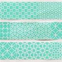 nastro adesivo decorativo Washi mt motivo geometrico verde acqua