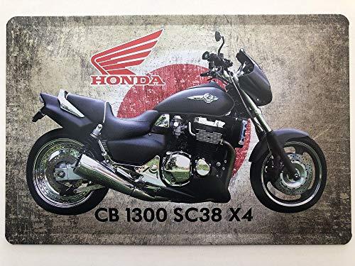 Deko 7 Blechschild 30 x 20 cm Honda CB 1300 SC38 X4 - Motorrad