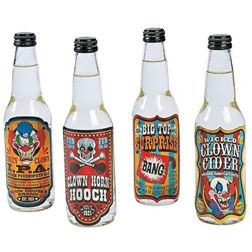 Elfen und Zwerge 12 x Halloween Flaschenetiketten 0,33l Flaschen Aufkleber Etiketten Party Hallowenparty Clown Grusel Horror (Halloween Flaschen Etiketten)