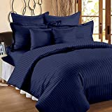 HighLife 240 TC Luxury Collection 100% Ahmedabad Cotton 1 Bedsheet with 1 Pillow Cover - Navy (Single Bed Size)