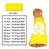 BKPH Große Hundekleidung Sibirischer Husky Samojede Goldener Apportierhund Großer Hund Welpen Sommer dünne Weste Atmungsaktiver Komfort, Yellow, 3XL