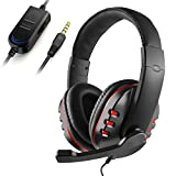 JAMSWALL Gaming Headset 3.5mm Wired Over-head Stereo Headphone with Mic Microphone Volume Control for PS4 Xbox One PC Laptop Smartphone