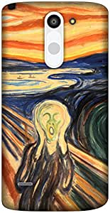 The Racoon Grip The Scream hard plastic printed back case / cover for LG G3 Stylus