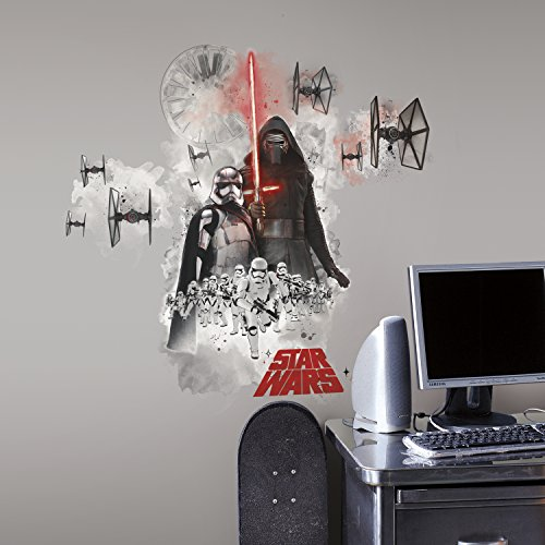 RoomMates 46 x 13 x 2.3 cm ``Giant Villian`` Repositionable Star Wars Episode VII Wall Stickers