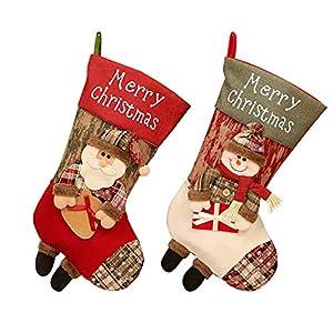 2 Piezas Calcetín De Navidad
