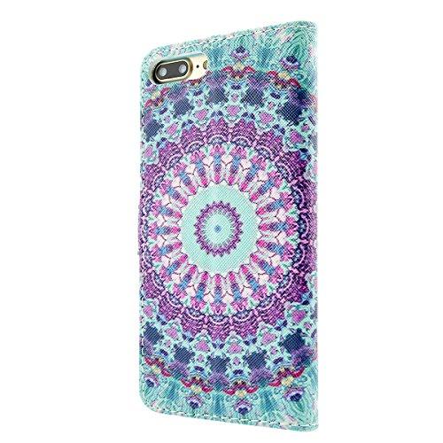 iPhone 8 Plus Lederhülle - Fraelc iPhone 7 Plus Premium PU Leder Flip Case Ledertasche im Bookstyle Brieftasche Tasche mit Kartenfächer und Bargeld Etui für Apple iPhone 7 Plus / iPhone 8 Plus Tasche  #6
