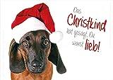 3 Stück A6 Tierpostkarte, Karte, Weihnachtskarte Weihnachten süßer Hund