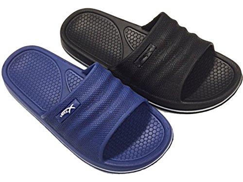 Foster Footwear ,  Jungen Herren Unisex Erwachsene Schieber Marineblau