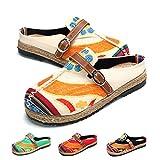 gracosy Alpargatas Zapatos de Mujer Caminando Zapatillas Plano de holgazán Sandalias de Verano...