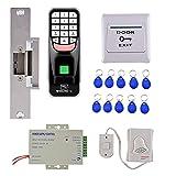 MagiDeal RFID Fingerabdruck Zugangskontrolle kit Elektronisches Türschloss set für Haus oder Büro - set 2