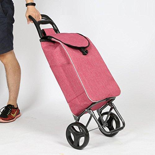 Leichter Einkaufstrolley, Hartes Tragen & Foldaway für Easy Storage mit 2 Wheeled Große, leichte, wasserdichte Shopping Trolley Bag , 2