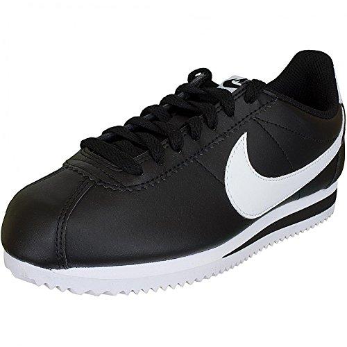 Nike Damen Sneaker Cortez Leather schwarz/weiß 37½ (Nike Schwarz Weiß Cortez)