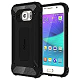 #5: Cubix Tough Armor Slim Rugged Military-Grade Drop Tested Case Defender Shield Shock Resistant Hybrid Heavy Duty Back Cover Case for Samsung Galaxy S6 (Black)
