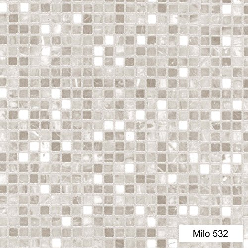 0532-Milo Mosaic effect Anti Slip Vinyl Flooring Home Office Kitchen Bedroom Bathroom High Quality Lino Modern Design 2M 3M 4M wide (Sampson) 2x1