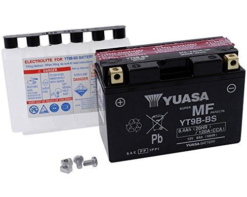 Batteria YUASA - YT9B-BS esente da manutenzione per YAMAHA YP400, A, G, Majesty 400 ccm anno 04-12