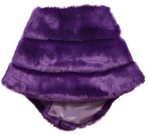 i-Furzone - Manteau - Femme Taille unique Fox Royal Purple (Warm / Thick)