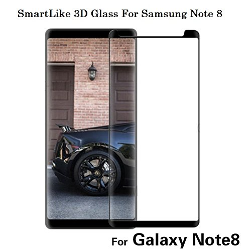 SmartLike 3D Edge To Edge Full Front Body Cover Tempered Full Glass Screen Protector Guard For Samsung Galaxy Note 8