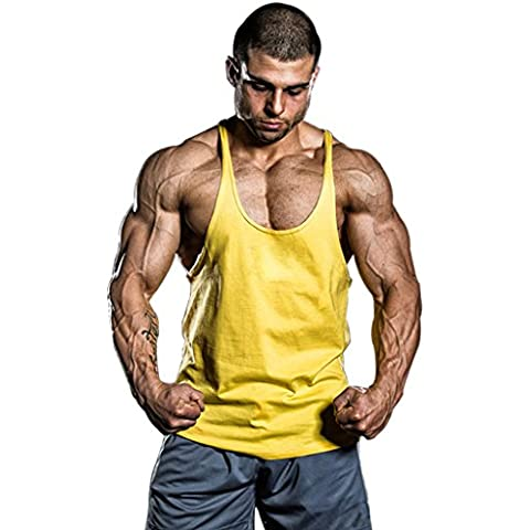 Musclealive Uomo Palestra Stringer Canotta 1 centimetro di larghezza cinturino