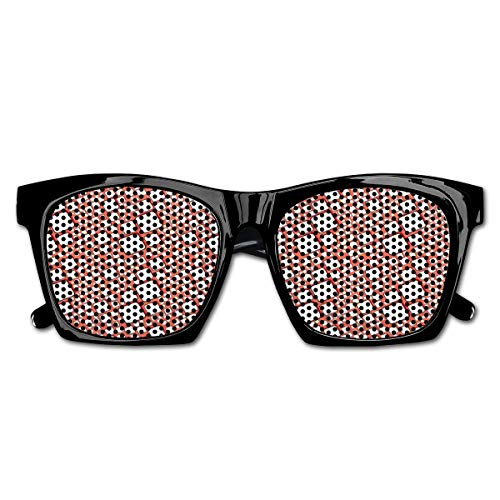 EELKKO Mesh Sunglasses Sports Polarized, Ornamental Squares with Oval Corners In Various Shapes Geometric Pattern,Fun Props Party Favors Gift Unisex