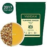Tè alle erbe (tisana) con curcuma e zenzero (100 tazze) - Tè disintossicante indiano, RICCO DI ANTIOSSIDANTI E FITONUTRIENTI - Rinfrescante ed energizzante, coltivato e confezionato in India, 200g