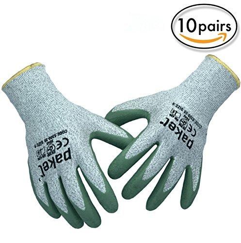 pakel High Performance EN388CE Level 5Schnitt Resistant Knit Handgelenk Handschuhe