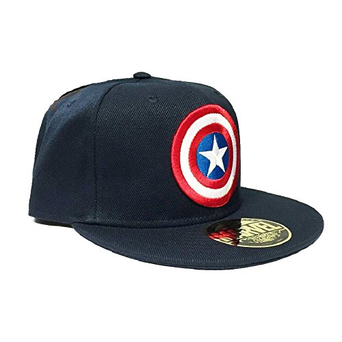 Marvel Captain America Baseball Cap (Snapback) Navy Hawk-baseball-cap