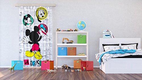 AG Design Tende - Mickey Mouse Disney - Tende per Camera Bambini - Stampa Foto 3D - 140 x 245 cm - 1 Parte - FCSL 7142
